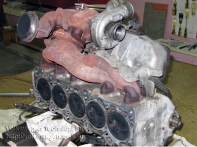 РЕМОНТ ГБЦ на VW Т4 CARAVELLE 2.5 TDI 2001 ACV