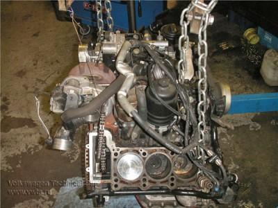 Audi Q7 с двигателем 3.0 TDI CASB, Несколько фотографий мотора его привода.